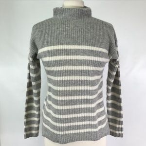 Ann Taylor Sweater XS Wool Cashmere Funnel Collar